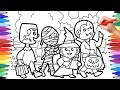 Halloween Coloring Pages for Kids, Trick or Treat Coloring Pages, Halloween Costumes Coloring Pages