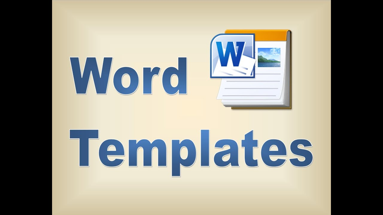 word create a template
