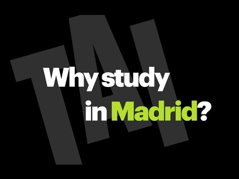 Why study in Madrid? TAI University of the Arts Madrid - English subtitles