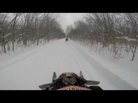 2-3-17 Snowmobile Trip In Seney Mi part 1