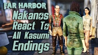 Fallout 4 Far Harbor - The Nakanos React To All Possible Outcomes of Kasumi s Plot