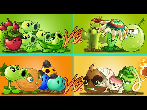 Plants Vs Zombies 2 Equipo Triple Daño Vs Daño Perforante Vs Alcance Largo Vs Alcance Corto