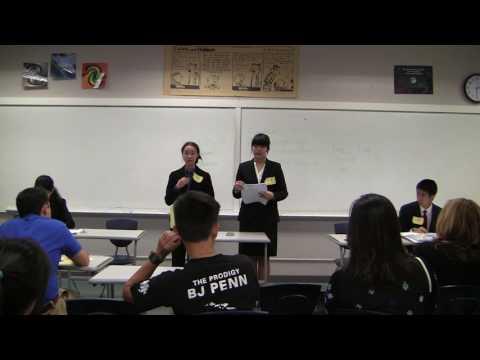 2017 Hawaii State Forensics Championships: Public Forum Debate - 3rd vs 4th (April 8, 2017)