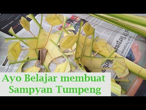 Membuat Sampyan Tumpeng Banten Bali Balinese Culture Youtube