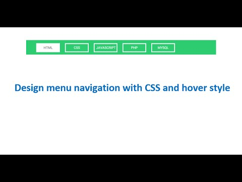Design Menu With CSS