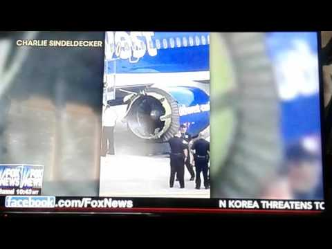 SOUTHWEST AIRLINES Flight New Orleans to Orlando,EMERGENCY LANDING AFTER ENGINE FAN COVER TEARS OFF