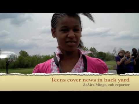 Teens Tackle Reporting At Nu Middle School