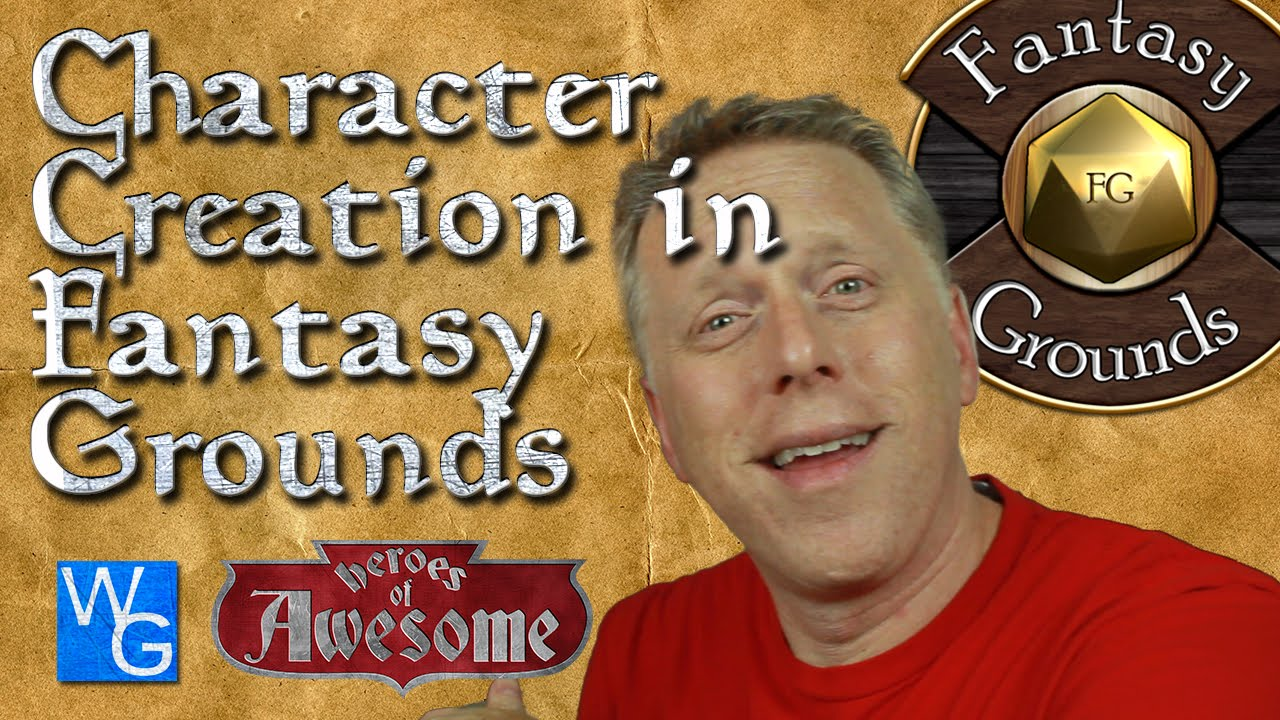d d 5th edition character creation in fantasy grounds youtube