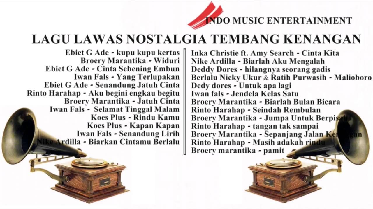 TEMBANG KENANGAN INDONESIA TERBAIK LAGU LAWAS TERPOPULER ...