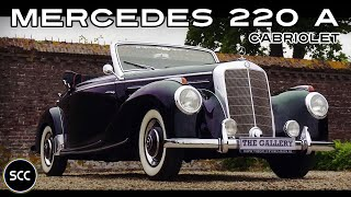 MERCEDES-BENZ 220 A Cabriolet 1952 - Small Test Drive - Engine sound | SCC TV