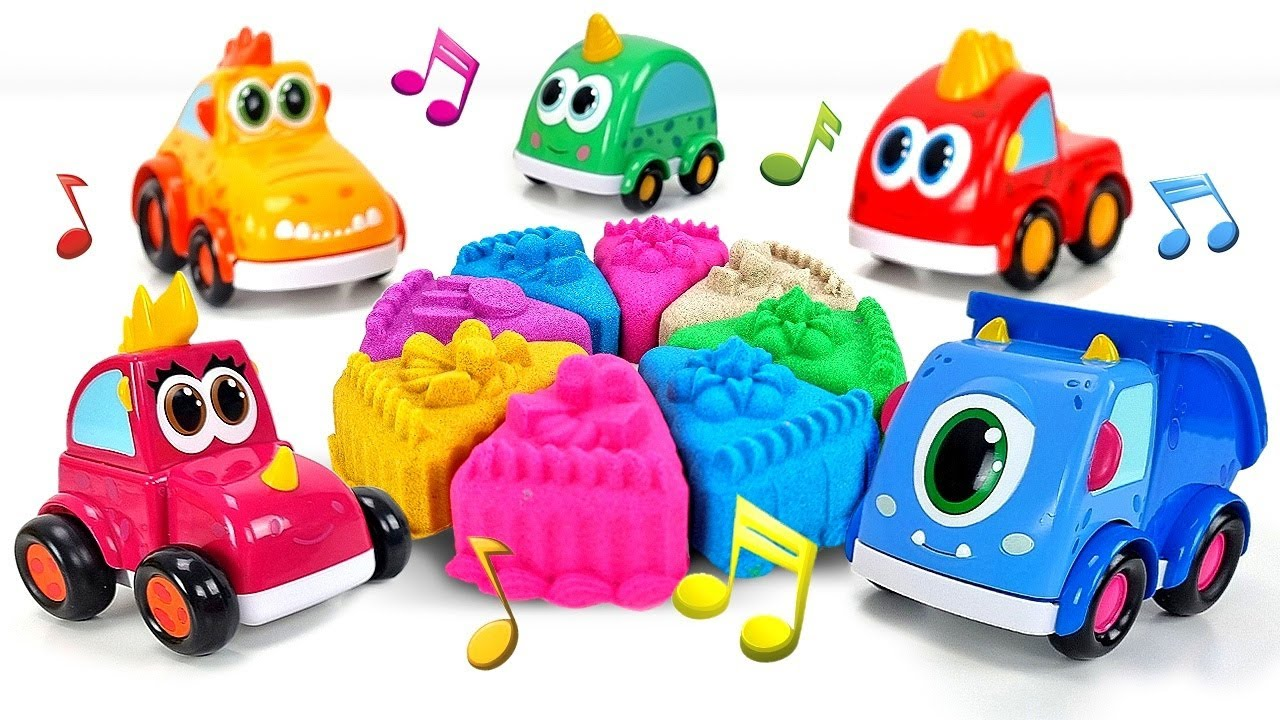 The Monster Cars song for kids & music for kids - Nursery rhymes & super simple songs for kids
