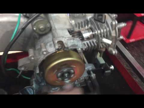 LOOK INSIDE A SCOOTER ENGINE! ** CUT-A-WAY ** GY6 50 / KYMCO AGILITY