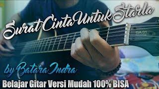 Gambar cover Tutorial Gitar Surat Cinta Untuk Starla Virgoun Lirik Kunci Gitar Genjrengan Versi Mudah
