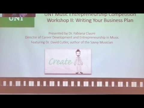 UNT Music Entrepreneurship Competition Workshop II