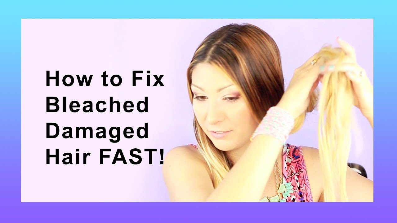 How To Repair Bleached Damaged Hair Youtube