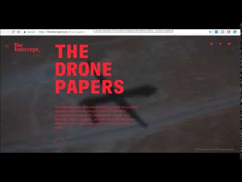 Screen capture from the drone papers