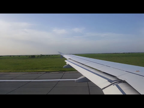 A320 Takeoff - Sun reflections - Fields Lakes Sky: Bucharest - Frankfurt