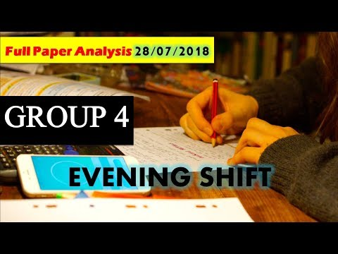 MP VYAPAM GROUP 4 TODAY PAPER EVENING SHIFT 28/07/2018