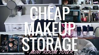 DIY Dollar Tree Makeup Organizer + Mini Room Tour!