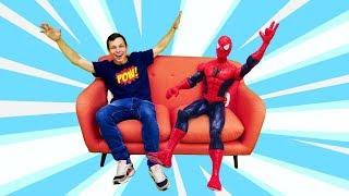 - Видео с игрушками Человек Паук и Фёдор Супергерои в Африке.