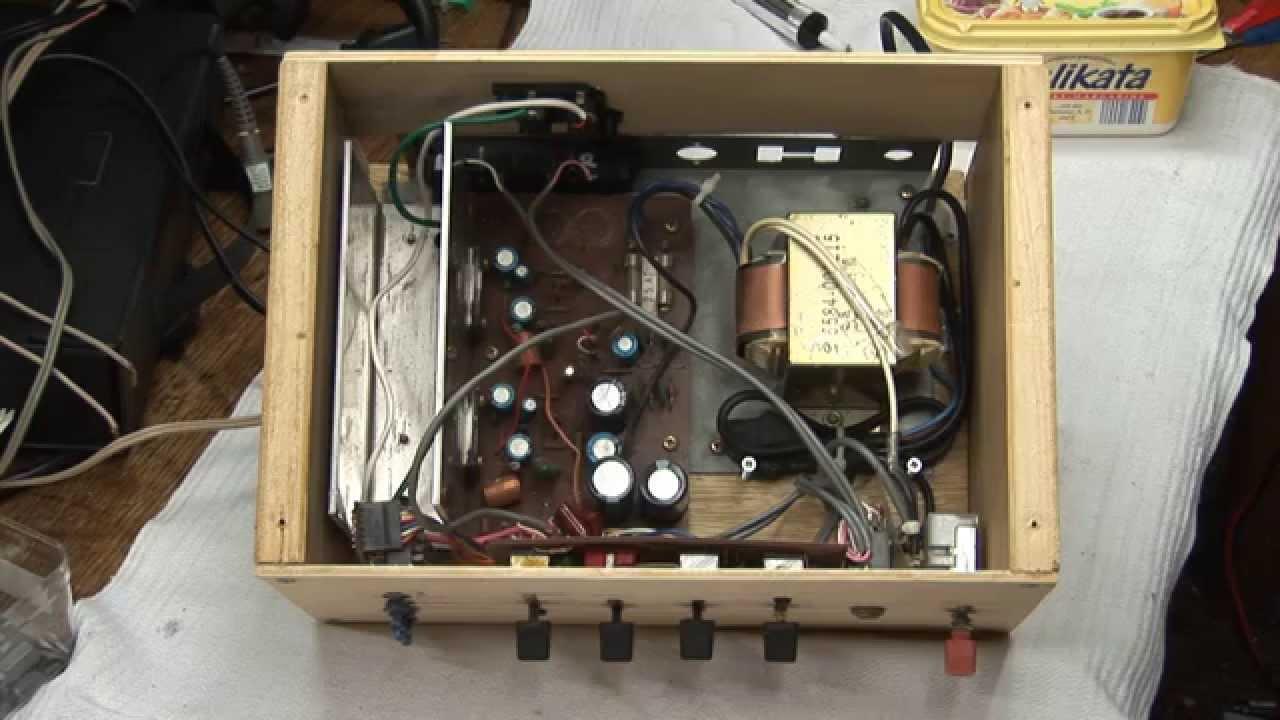 Homemade Audio Amplifier Teardown - YouTube