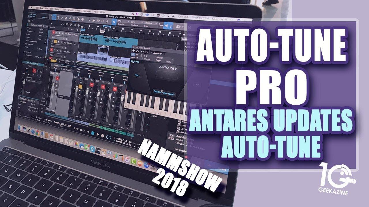 Auto-Tune Pro: Antares Updates Auto Tune with Key Detection