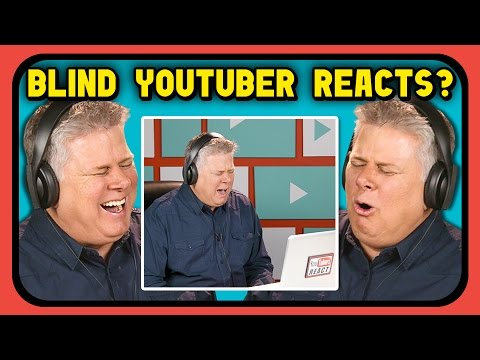 Thumbnail: BLIND YOUTUBER REACTS TO BEING ON YOUTUBERS REACT