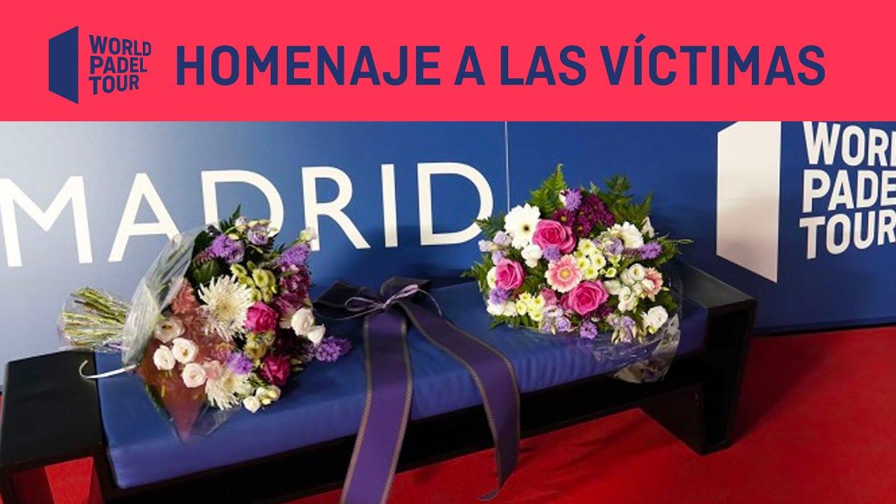 World Padel Tour y el Ayuntamiento de Madrid homenajearon a las víctimas de la pandemia