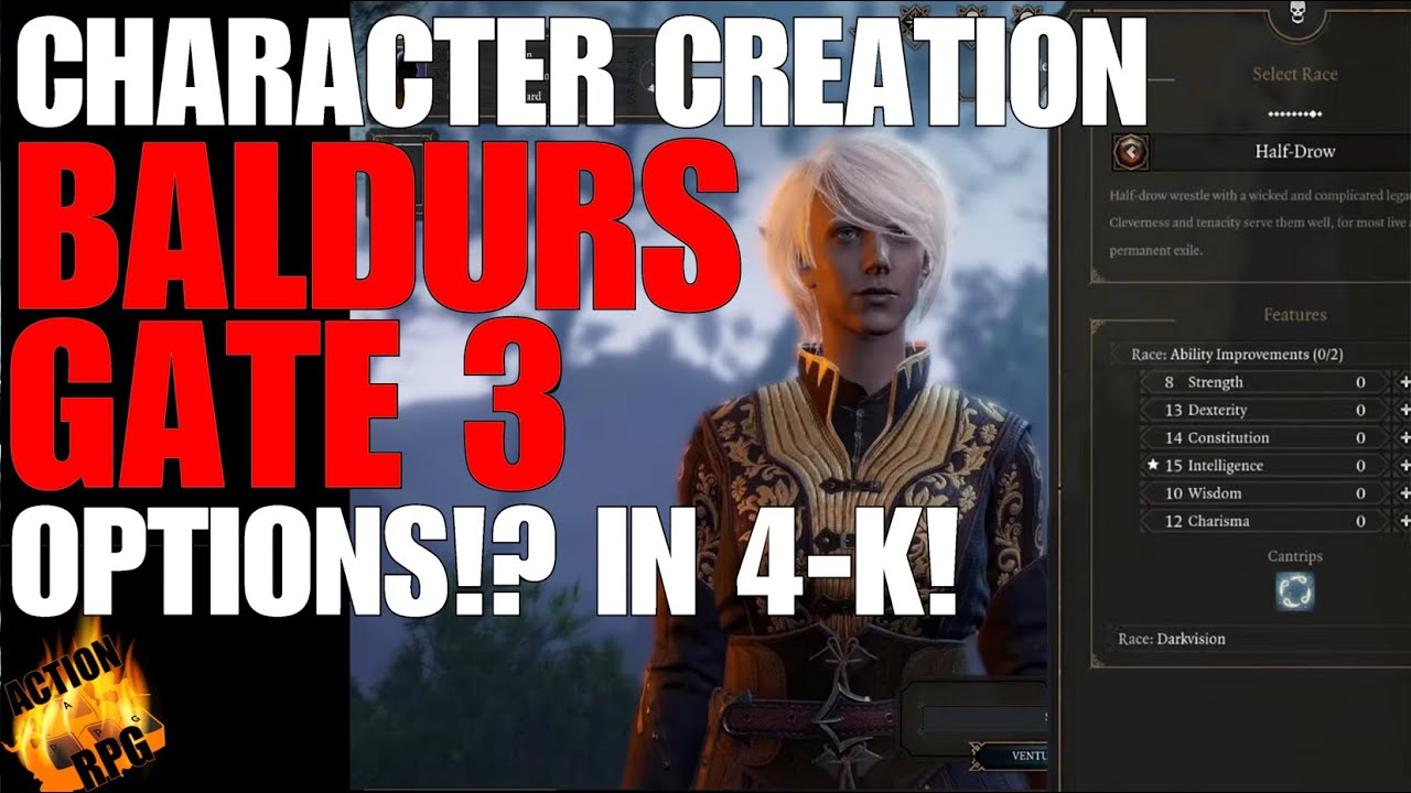 Baldurs Gate 3 Character Creation How Many Options Do You Have
