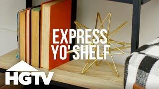 3 Ways to Decorate a Bookshelf - HGTV Happy