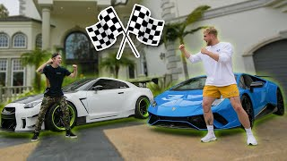 1000HP Lamborghini VS 1000HP GTR Street Race! (Who's Faster?)