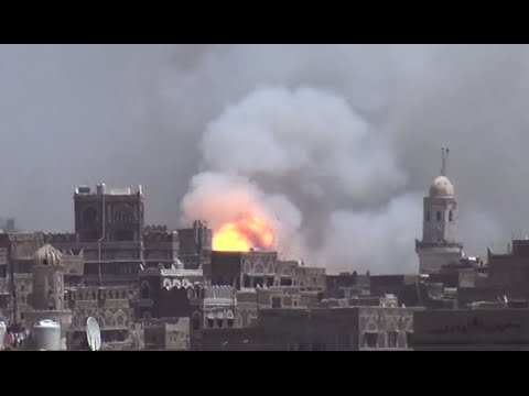 Caught on cam: Saudi-led coalition airstrikes camp near Sanaa, Yemen