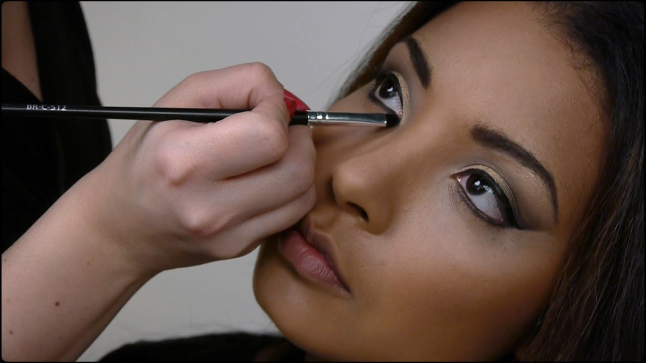 Célèbre Maquillage peau black et métisse, le smoky et la feuille d'or  RO98