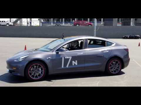 Tesla Model 3 Intense Autocross Race!