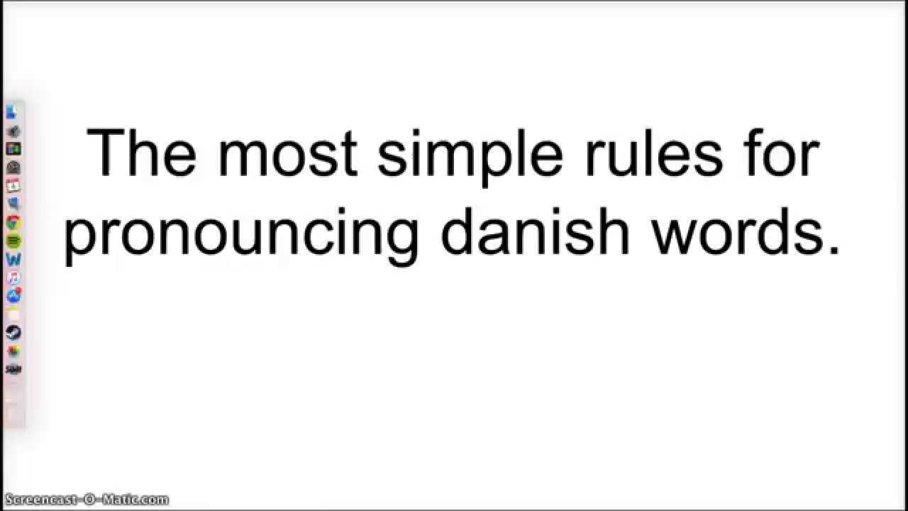Danish pronunciation the simple rules youtube danish pronunciation the simple rules spiritdancerdesigns Images