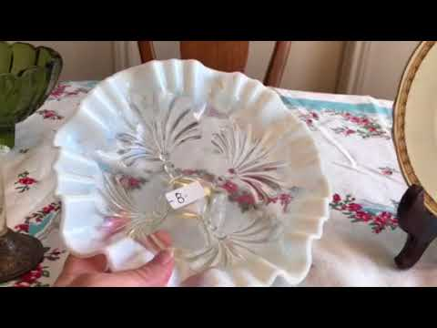 Estate Sale Garage Sale Finds Video #87:   Sterling Jewelry and Lots of Antique Vintage Glass