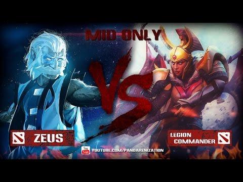 видео: zeus vs legion commander [Битва героев mid only] dota 2