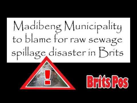 Madibeng Municipality to blame for raw sewage spillage disaster in Brits