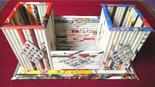 How to make a Newspaper Pen /Pencil Stand / Holder / Kitchen Organizer (Tutorial)Best out of waste |