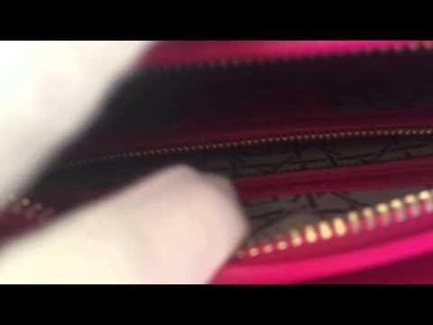 583b3929d02f Authentic lady dior mediun lambskin fuchsia ghw interior - YouTube