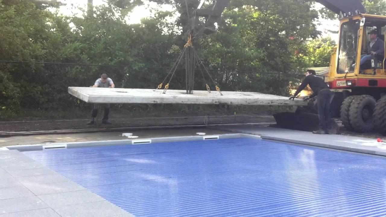 Betonplaat leggen op zwembad door youtube for Zwembad leggen