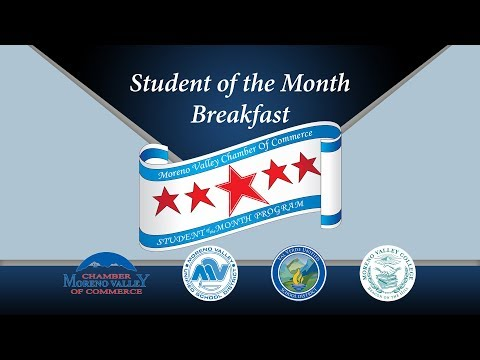 Student Of the Month Breakfast October 18, 2017