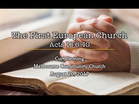 Melbourne Community Church 08-20-17 Sermon