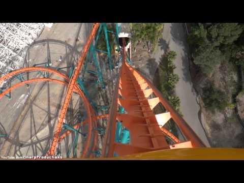 Goliath (On-Ride) Six Flags Magic Mountain - Valencia, California