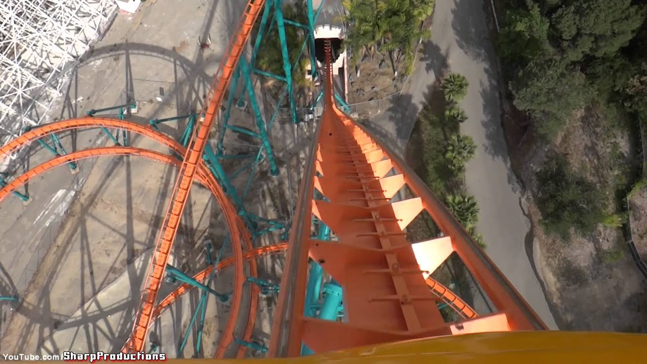 Goliath On Ride Six Flags Magic Mountain Valencia California You