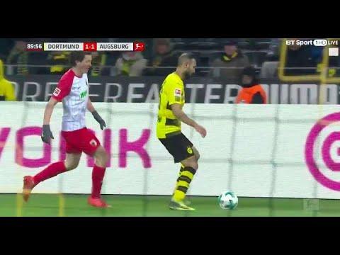 Omer Toprak produced a horrific moment of cheating during Dortmund v Augsburg