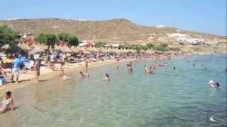 Beaches of Mykonos island  -  Greece