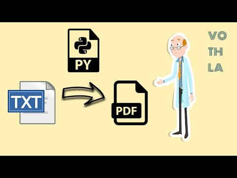 How To Convert TEXT To PDF Using PYTHON 3 | How To Generate PDF Using PYTHON | Vothla's Coding