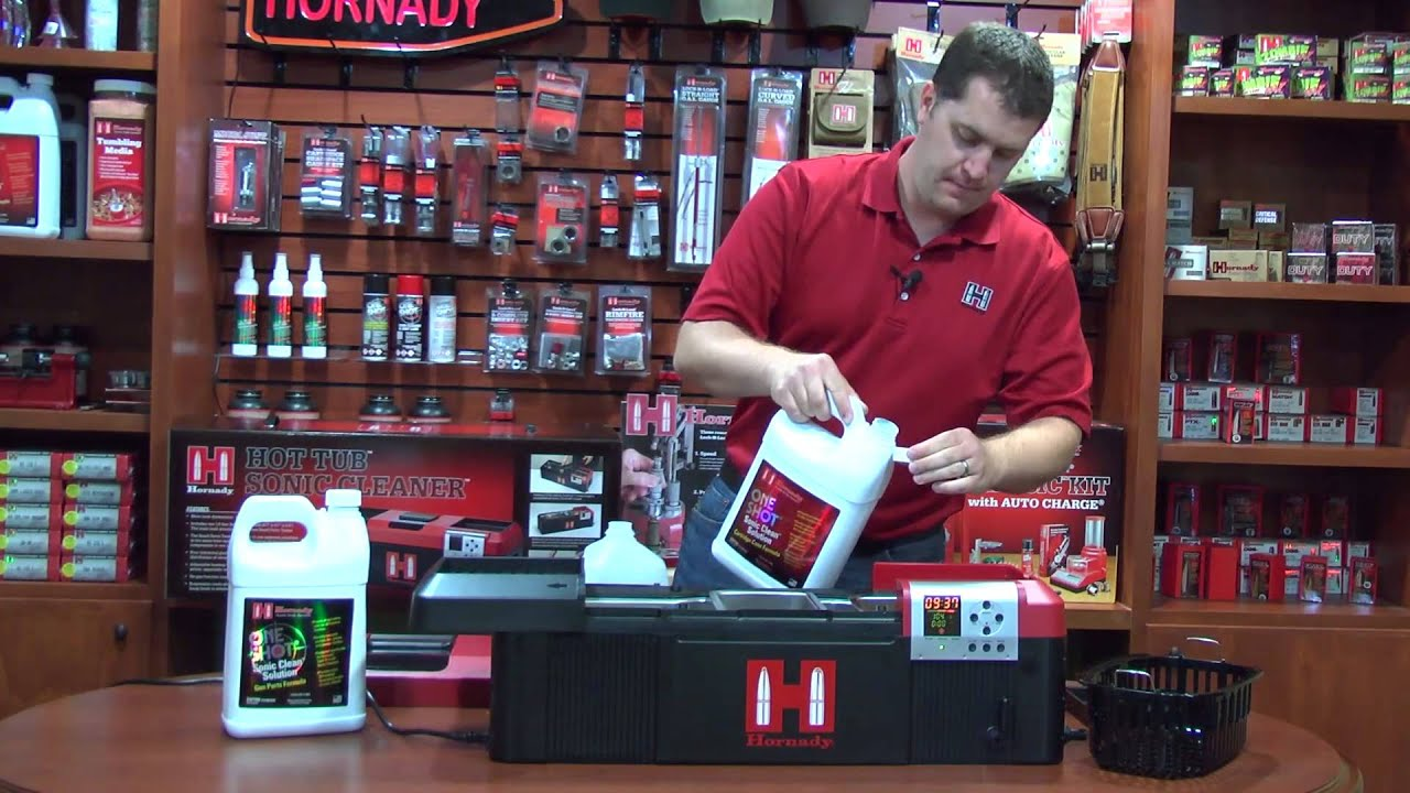 Hornady® Hot Tub™ Sonic Cleaner Demo - YouTube