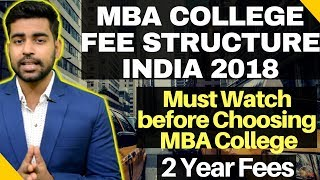 Top 10 MBA - MBA College Fee Structure in INDIA | Top MBA College India  |IIM Fees